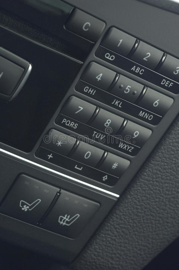 Close up of a middle car control keyboard royalty free stock photo