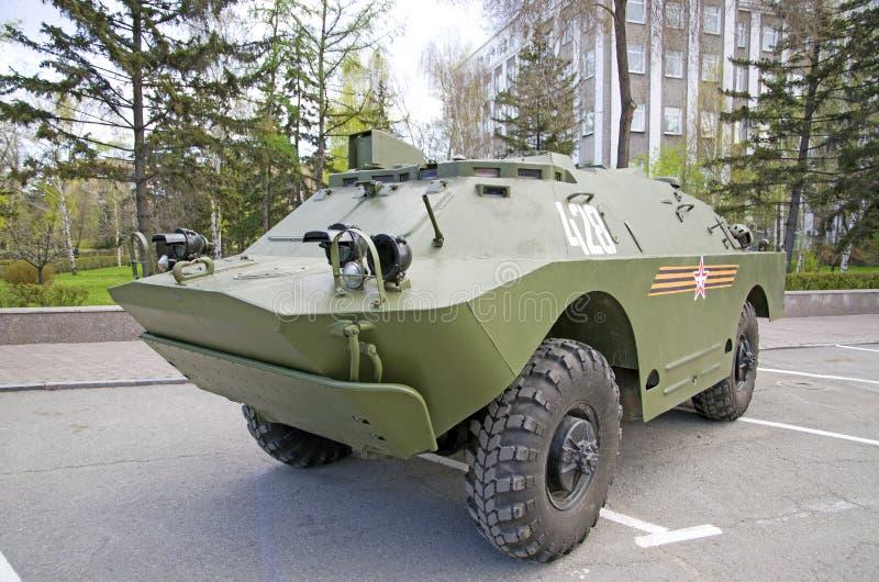 Close-up militar do equipamento do russo Na cidade Tempo calmo foto de stock royalty free