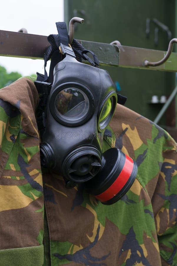 Close up militar do gasmask foto de stock royalty free