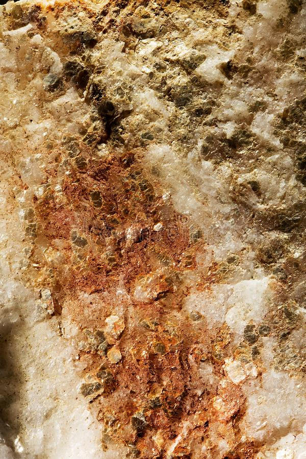 Mineral in rock. A close up of a mineral in a rock royalty free stock images