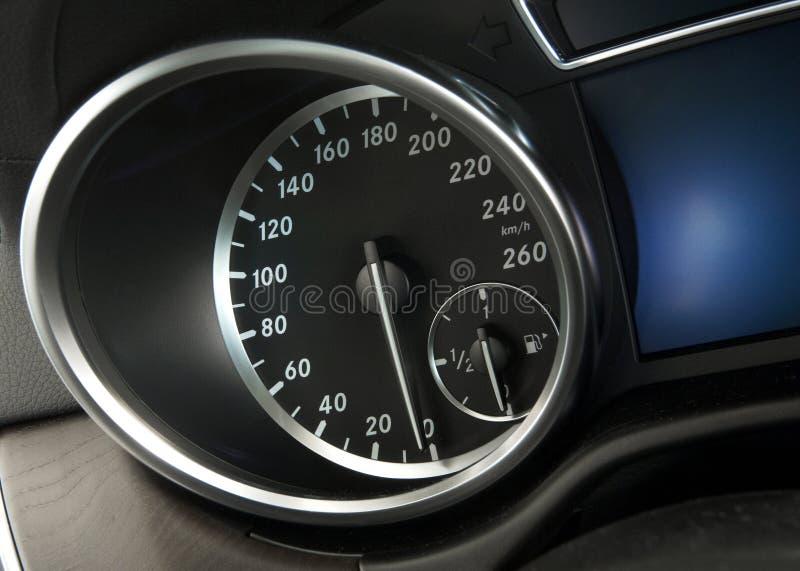 Close up of a modern car dashboard royalty free stock photos
