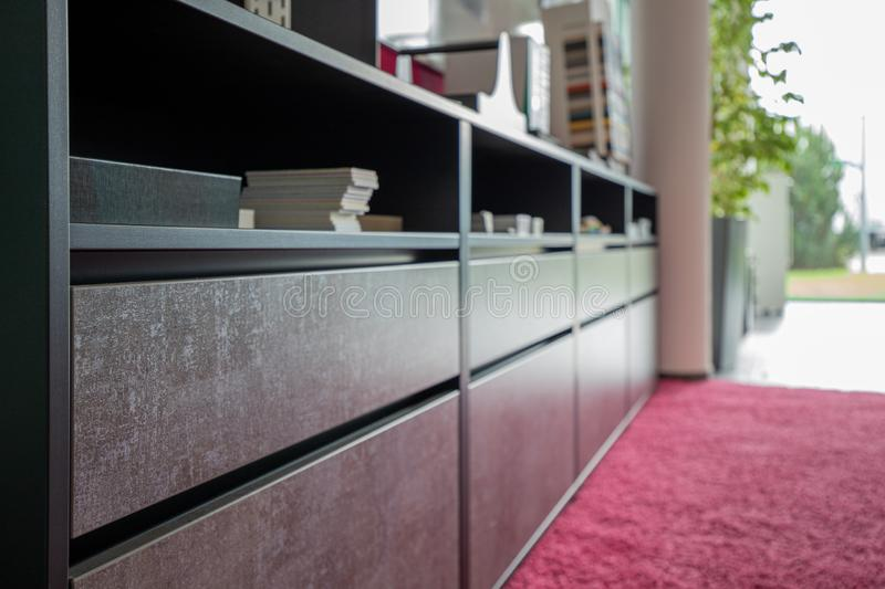 close-up of a modern office cabinet in an office royalty free stock photos