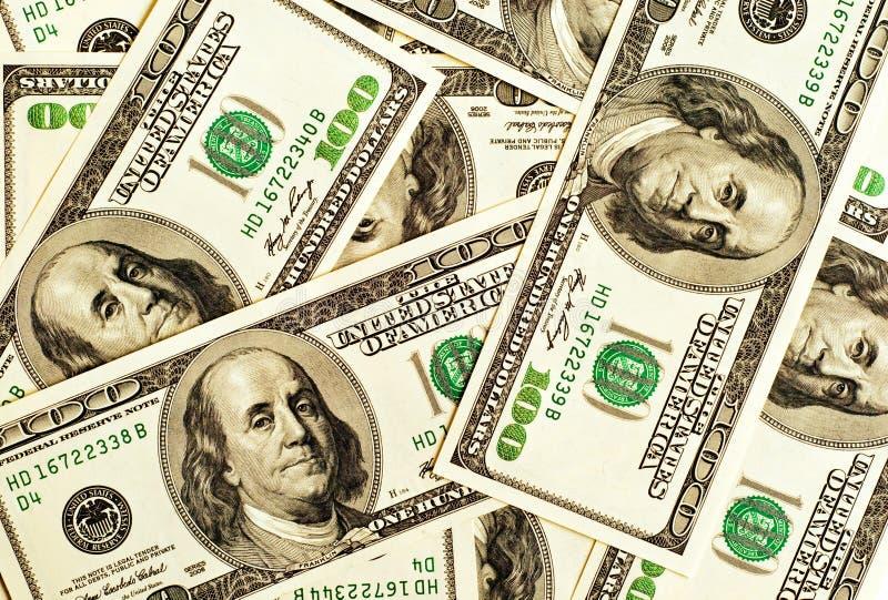 Close-up money dollars background