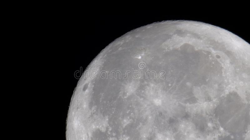 Close up of the moon stock images