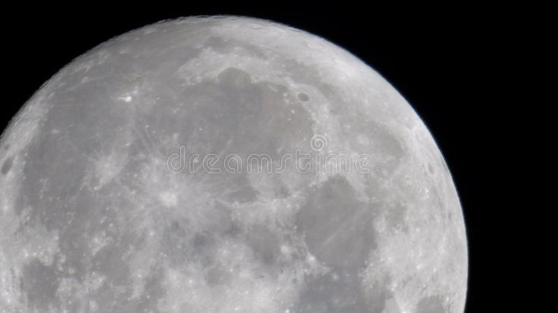 Close up of the moon stock image