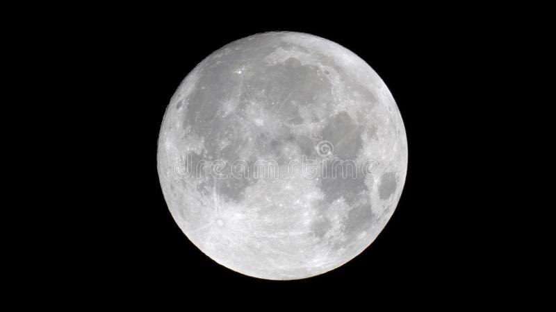 Close up of the moon royalty free stock photography