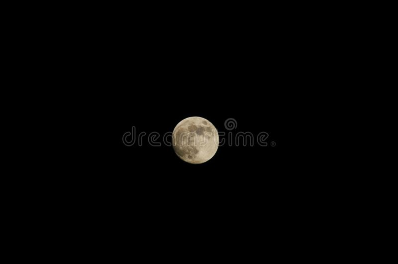 Close-up of the moon. In the black sky royalty free stock image