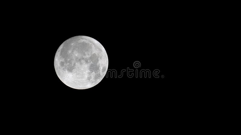 Close up of the moon royalty free stock photos