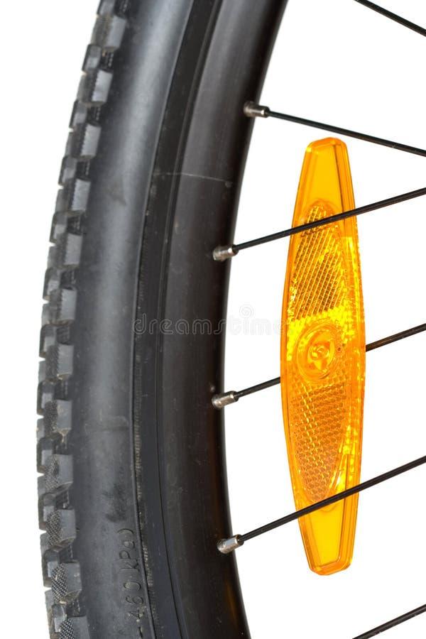 Close up of a mountain bike wheel stock photo