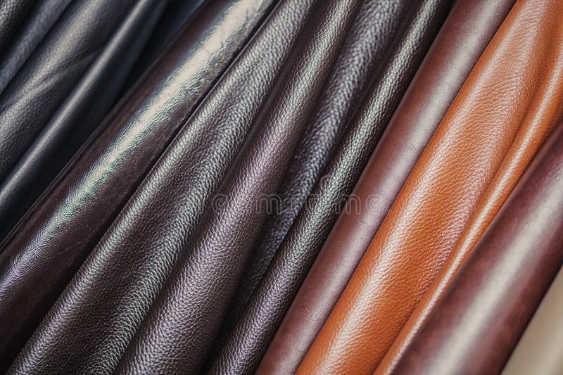 Pattern made of genuine leather royalty free stock image