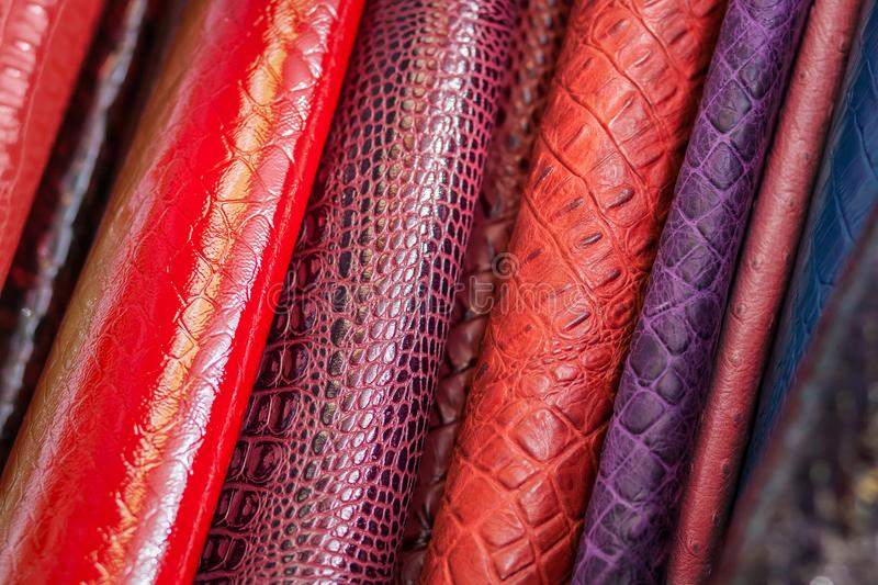 Pattern made of genuine leather royalty free stock images