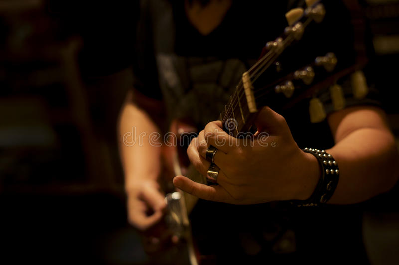 Download Close Up Musician Playing Electric Guitar Stock Image - Image: 26837291