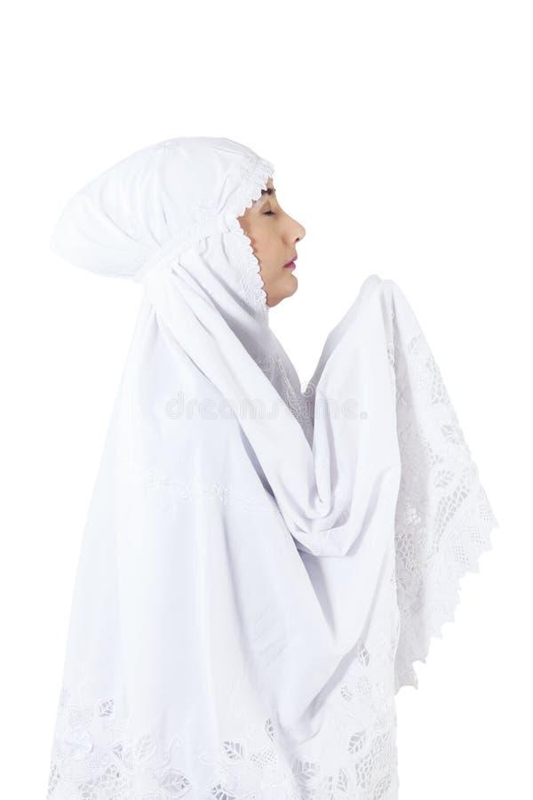 Download Close-up Of Muslim Woman Praying On White Background Stock Photo - Image: 31294168