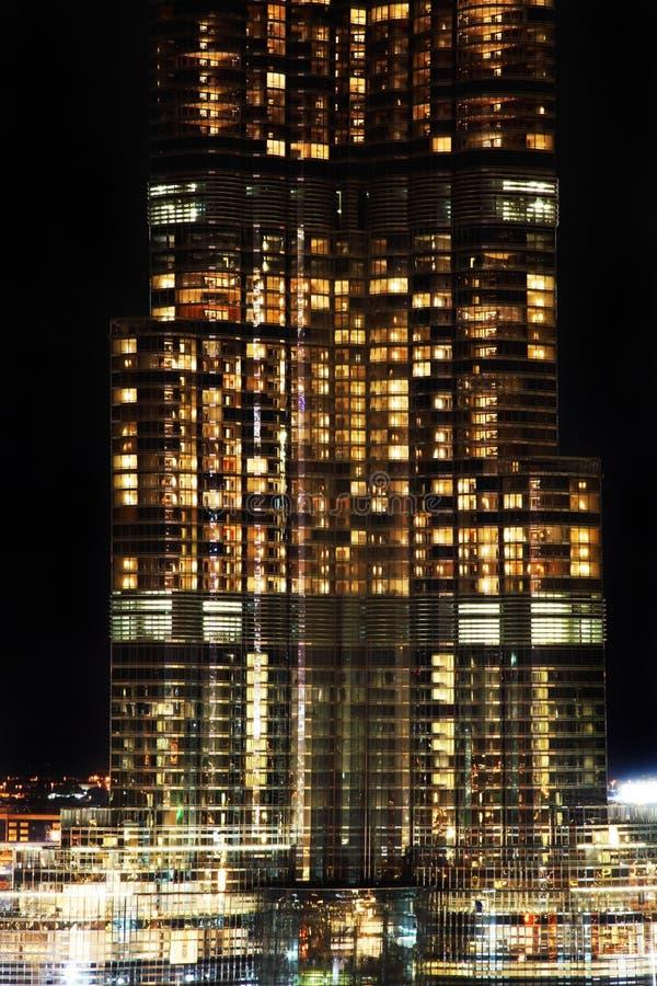 Close up na torre a mais alta no mundo foto de stock