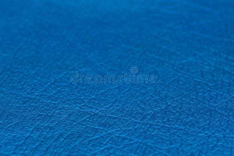 Close up of natural blue leather background. stock photography