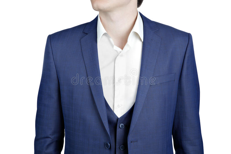 Close-up Navy Blue Suit On Prom Night For Men. Stock Image - Image ...