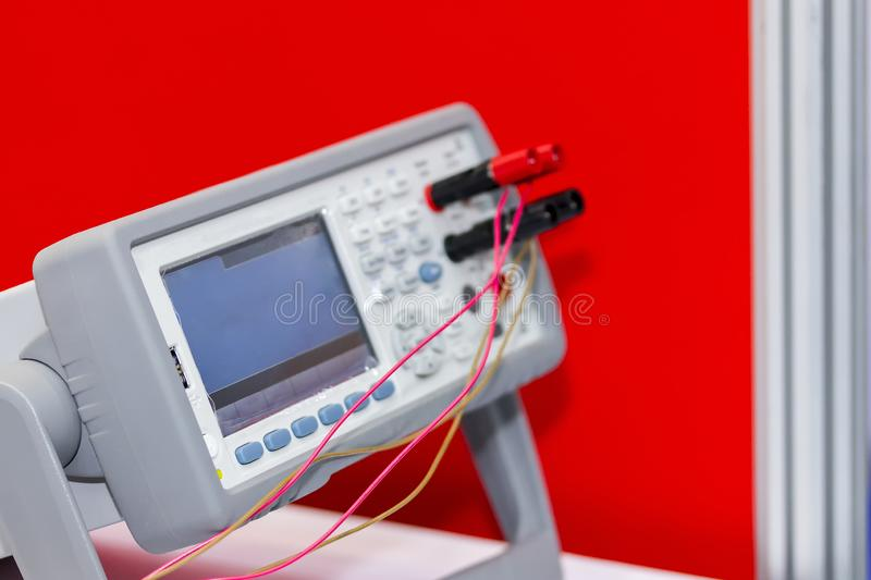 Close up New modern and high performance and accuracy digital multimeter for industrial royalty free stock photography