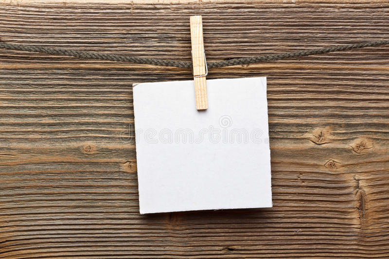 Download Close Up Of A Note And A Clothes Peg Stock Photo - Image: 26928666