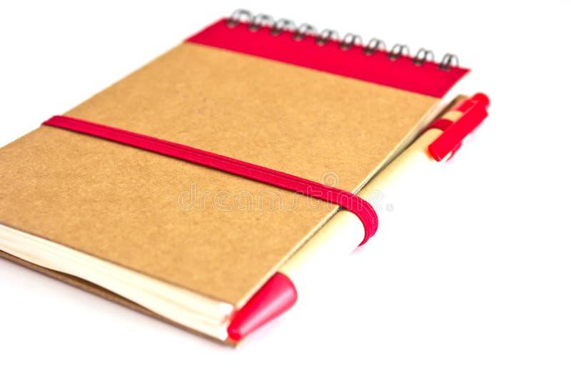 Close up notepad stock photo