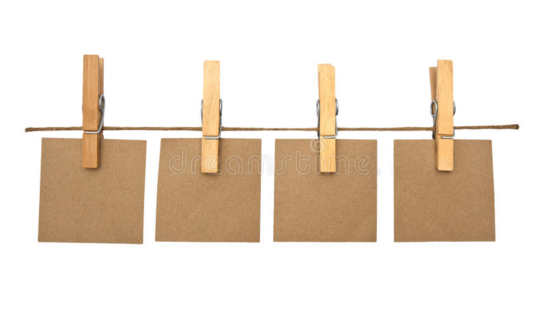 Download Close Up Of A Notes And A Clothes Pegs Stock Image - Image of card, attach: 39509109