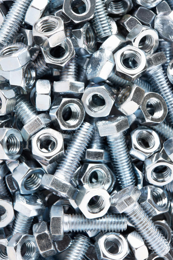 Download Close up of nuts and bolts stock photo. Image of studio - 17450564