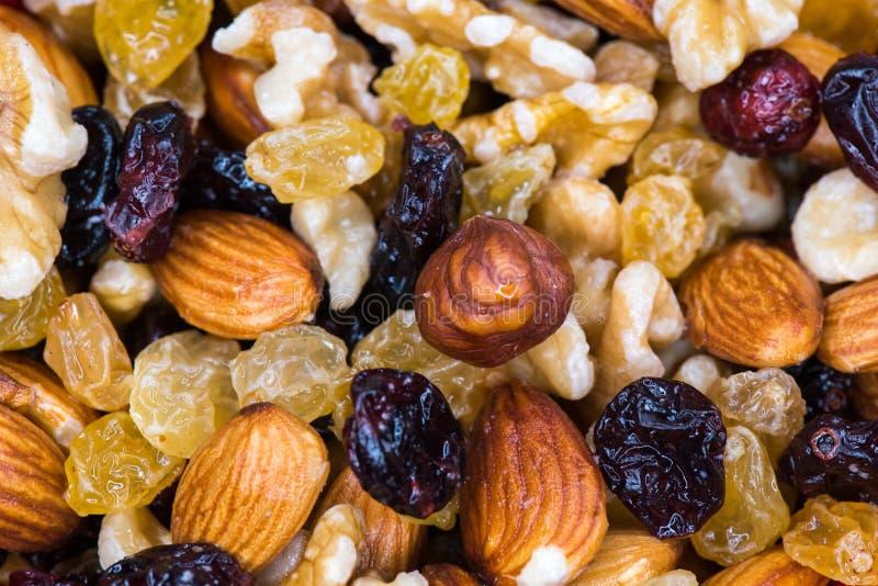 Close up nuts misturado imagem de stock royalty free