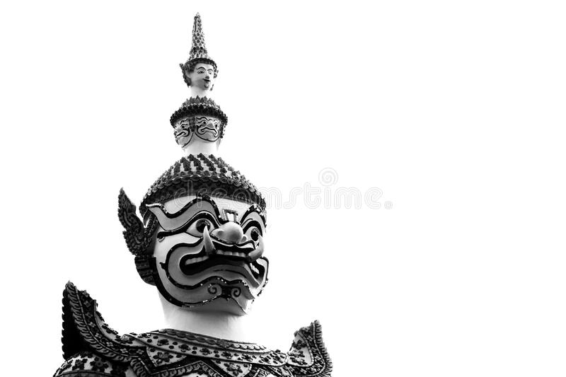 Close up o gigante no arun de Wat em Bkk, Tailândia foto de stock
