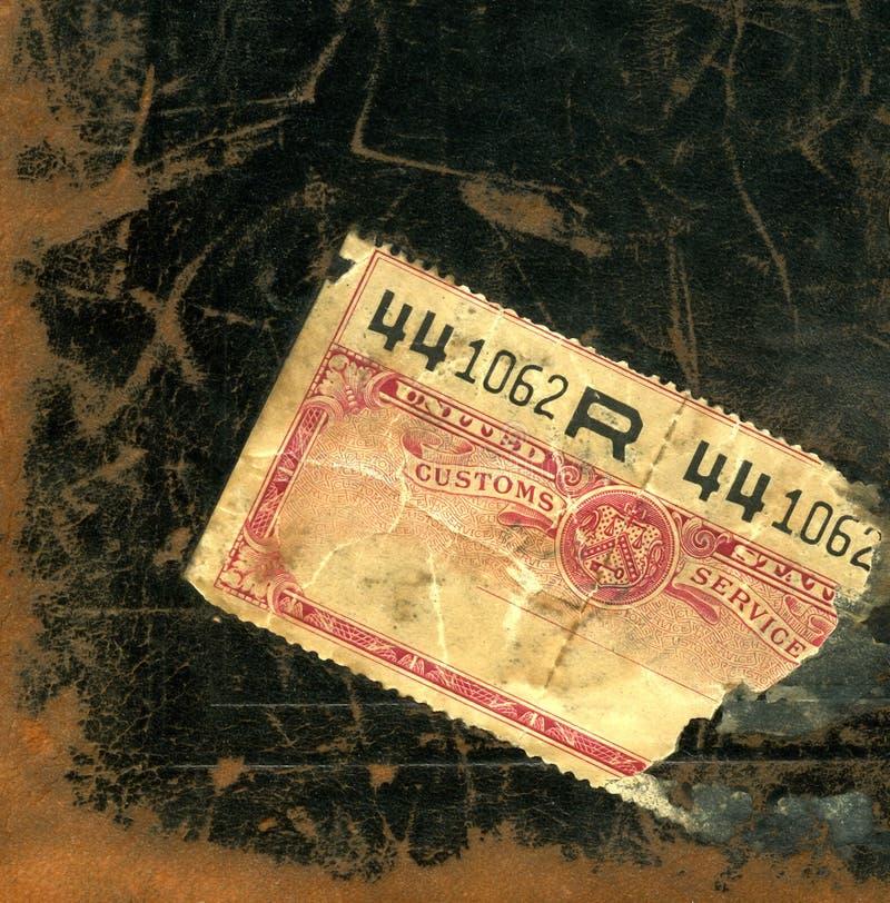 Free Close-up Of A 1920 S U.S. Customs Sticker Stock Photos - 1492923