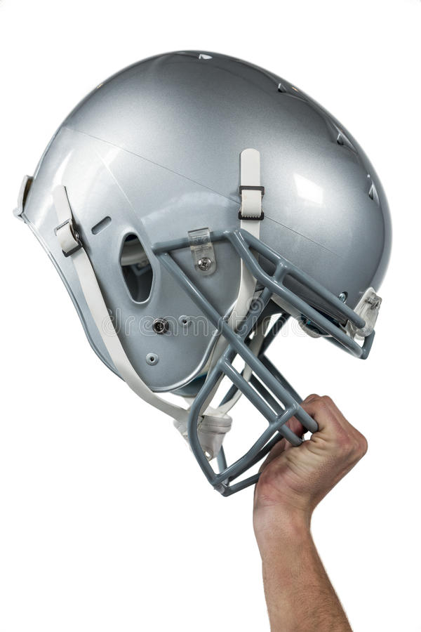 Free Close-up Of American Football Player Handing His Sliver Helmet Royalty Free Stock Photos - 60542658
