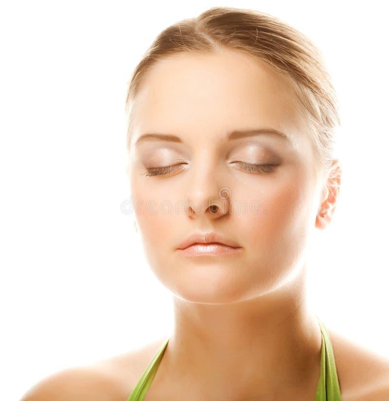 Free Close-up Of Beautiful Woman Face. Royalty Free Stock Photos - 13371148
