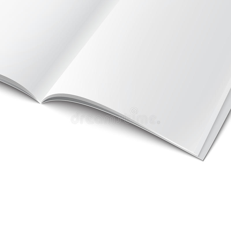Free Close-up Of Blank Opened Magazine Template. Stock Photos - 33743953