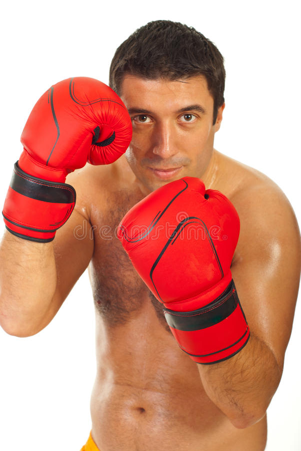 Free Close Up Of Boxer Man Royalty Free Stock Images - 21953829