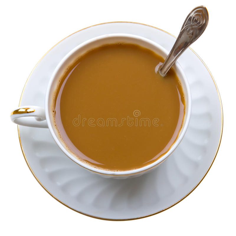 Free Close-up Of Coffee With Milk Cup On Isolated White Stock Photo - 10280550