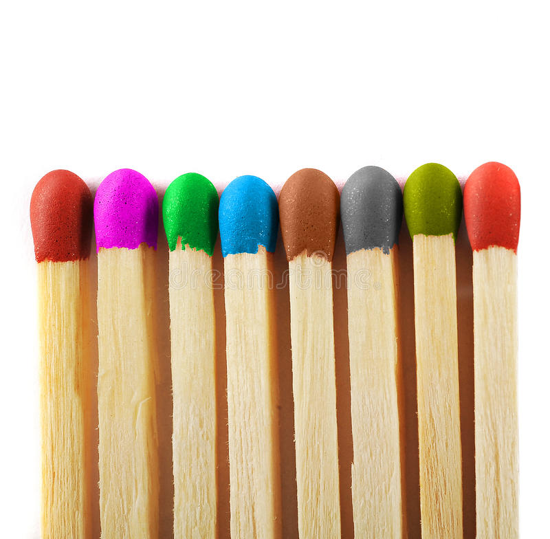 Free Close Up Of Matches Of Different Colors Royalty Free Stock Image - 27122736