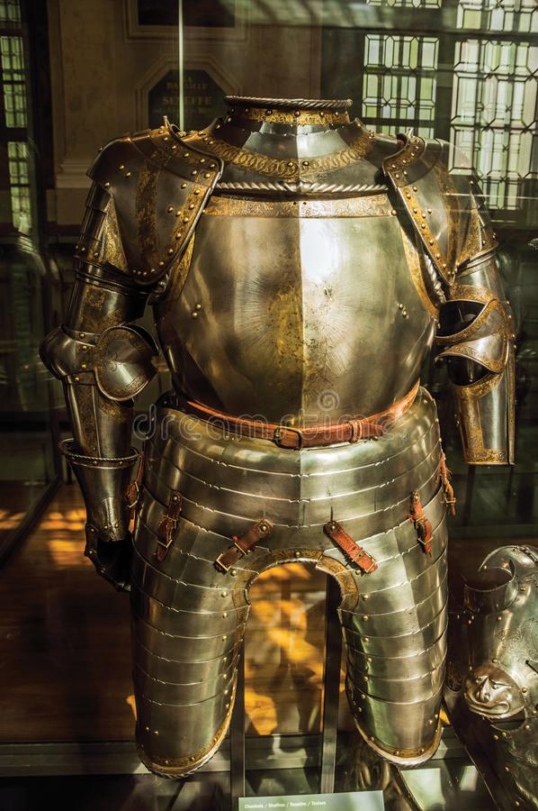Free Close-up Of Original Medieval Armor In The Army Museum Of The Palace Les Invalides In Paris. Stock Photo - 108607560