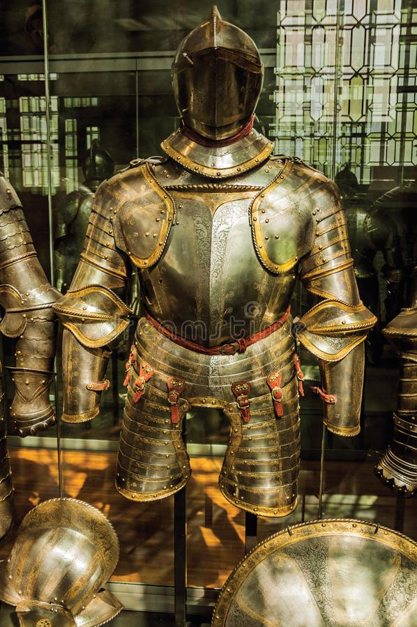 Free Close-up Of Original Medieval Armor In The Army Museum Of The Palace Les Invalides In Paris. Stock Image - 108607571