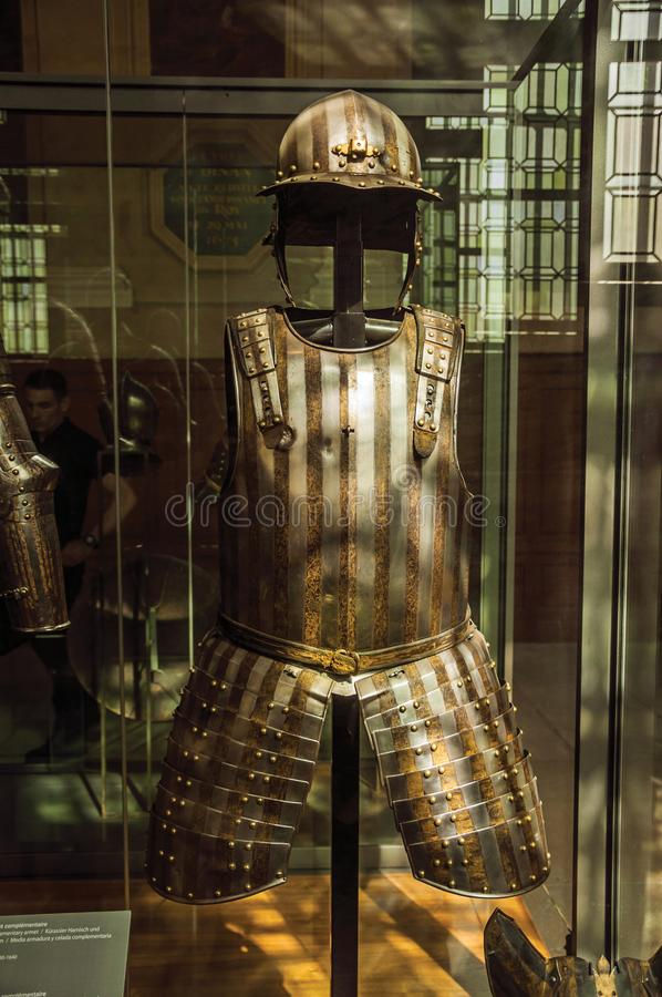 Free Close-up Of Original Medieval Armor In The Army Museum Of The Palace Les Invalides In Paris. Royalty Free Stock Images - 108607729