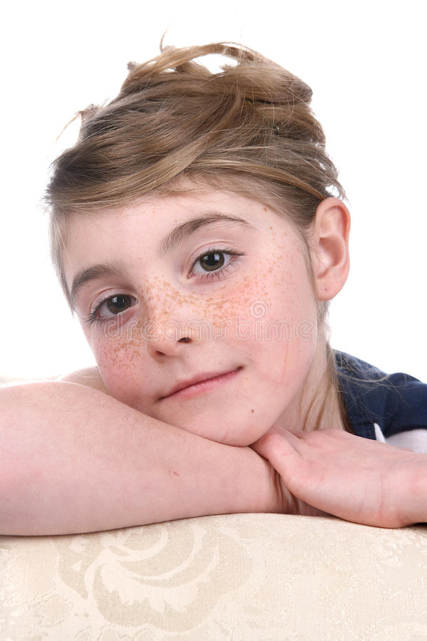 Free Close Up Of Pretty Girl S Freckled Face Stock Photography - 10911732