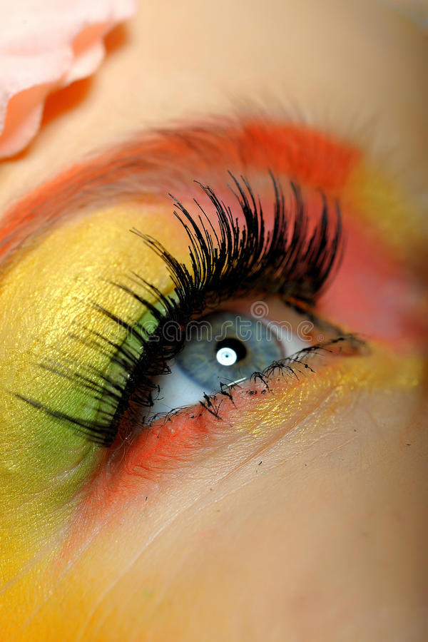 Free Close-up Of Summer Fashion Creative Eye Make-up Stock Photos - 14151043