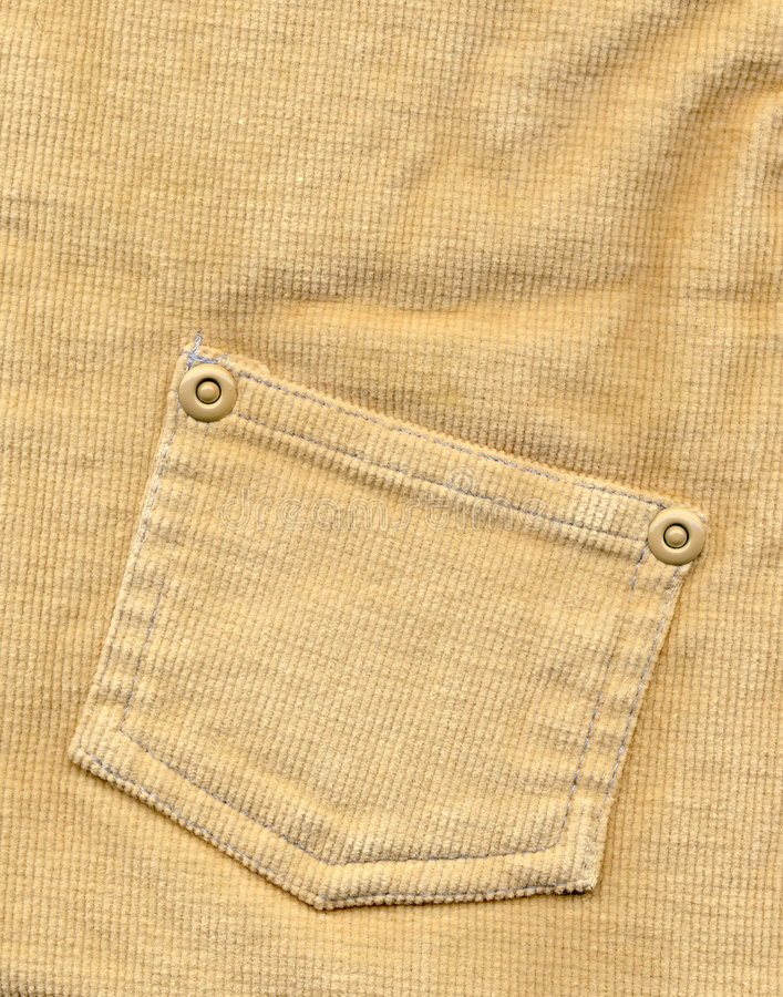 Free Close-up Of Textured Denim Beige With Pocket Royalty Free Stock Image - 4855226