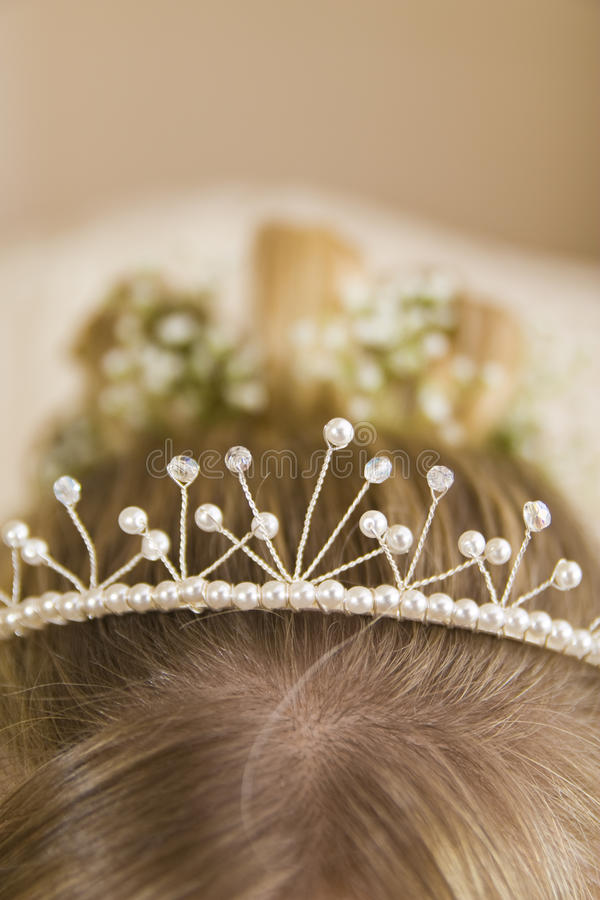 Free Close-up Of Tiara In Bride S Hair Stock Images - 15429524