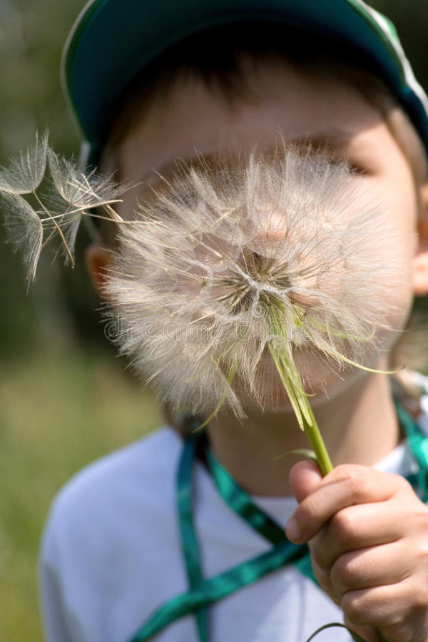 Free Close-up Of Young Boy Blowing Away Royalty Free Stock Photography - 10294887
