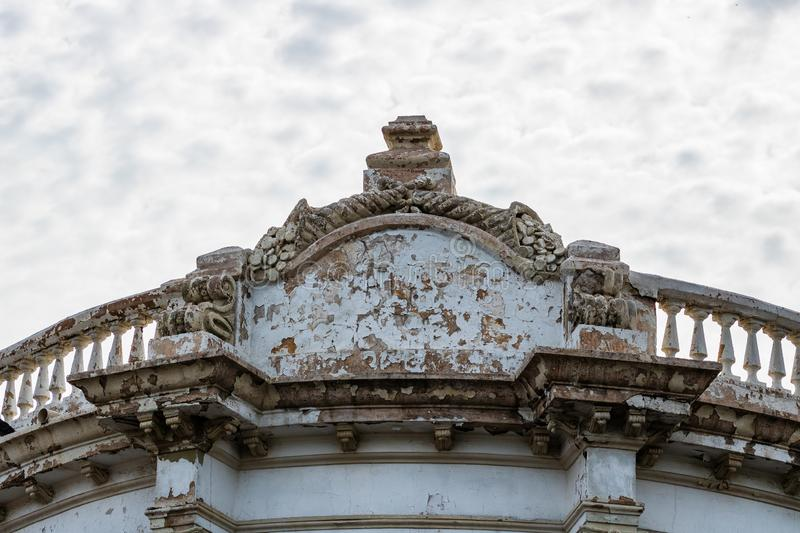 Close up of an old building facade in Guaymas, Mexico.  stock image