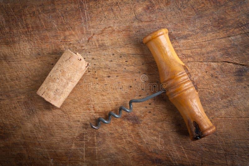Corkscrew and dork. royalty free stock photos
