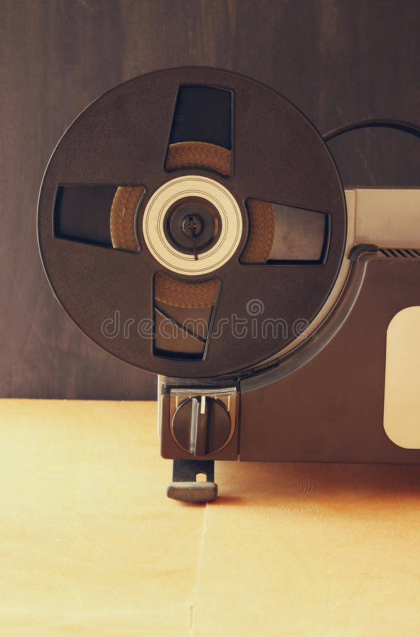 Close up of old 8mm Film Projector reel stock image