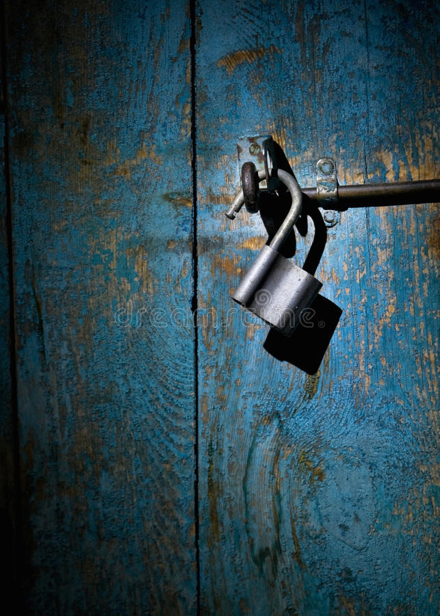 Close-up of an old padlock royalty free stock photography