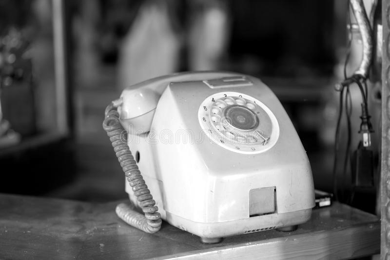 Close up of old public phone royalty free stock photo