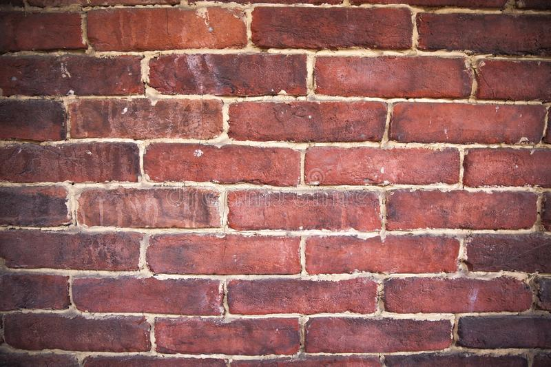 A close up of an old red brick wall.  stock photos