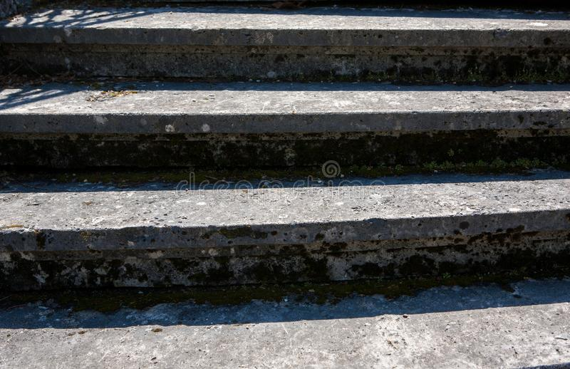 Close up of an old stone steps royalty free stock photos