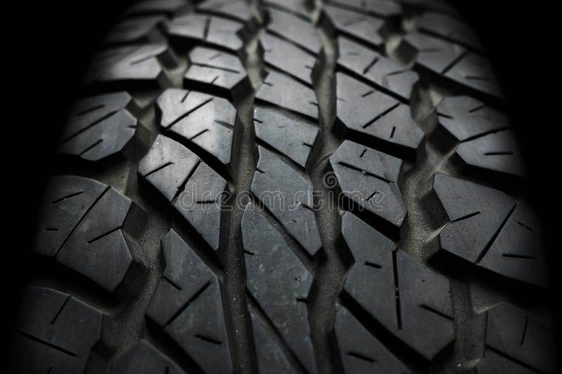Close up Old and Used Vehicle Tyre Texture Background royalty free stock photography